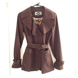 Jackets & Blazers - Green Envy Brown Trench Coat like new!!!